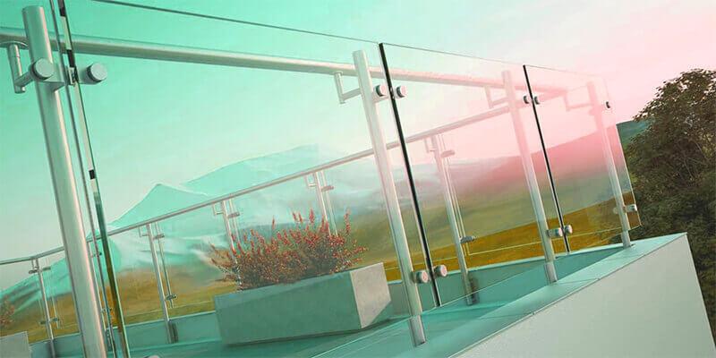 glass railing - Star Gate