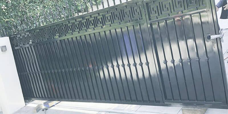 metal gate installation - Star Gate